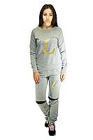 Костюм спортивный для девушек, серого цвета / tracksuit SK4-1, фото 1