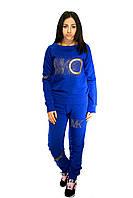 Костюм спортивный для женщин, ярко-синего цвета, фото 1