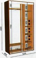 Шкаф-купе 1200х450х2400, фото 1