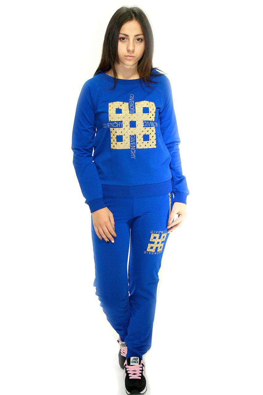 Женский спортивный костюм, ярко-синего цвета / women's tracksuit CK2