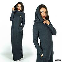 Платье 17511 (Темно-серый)