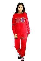 Костюм женский, ярко - красный, для спорта, фото 1