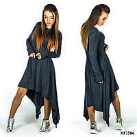 Платье 17506 (Темно-серый), фото 1