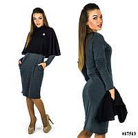 Платье 17513 (Черный/Серый)