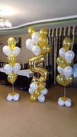 Оформление детского Дня Рождения фольгированными цифрами и гелиевыми шариками