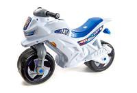 Мотоцикл детский беговел музыкальный  501W Белый