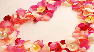 Лепестки роз искусственные, пена - лепестки, небесные фонарики