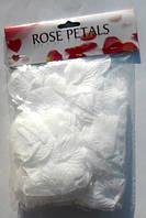 Искусственные лепестки роз распушенные белые, 150 шт./уп.