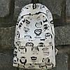 Школьный черно-белый рюкзак Совы