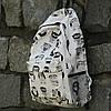 Школьный черно-белый рюкзак Совы, фото 3