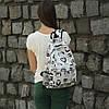 Школьный черно-белый рюкзак Совы, фото 4