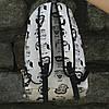 Школьный черно-белый рюкзак Совы, фото 6