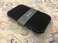 Кожаный чехол флип Melkco для HTC Desire C A320e черный