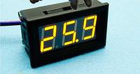 Цифровой вольтметр DC 0-100V (Желтый) 3P