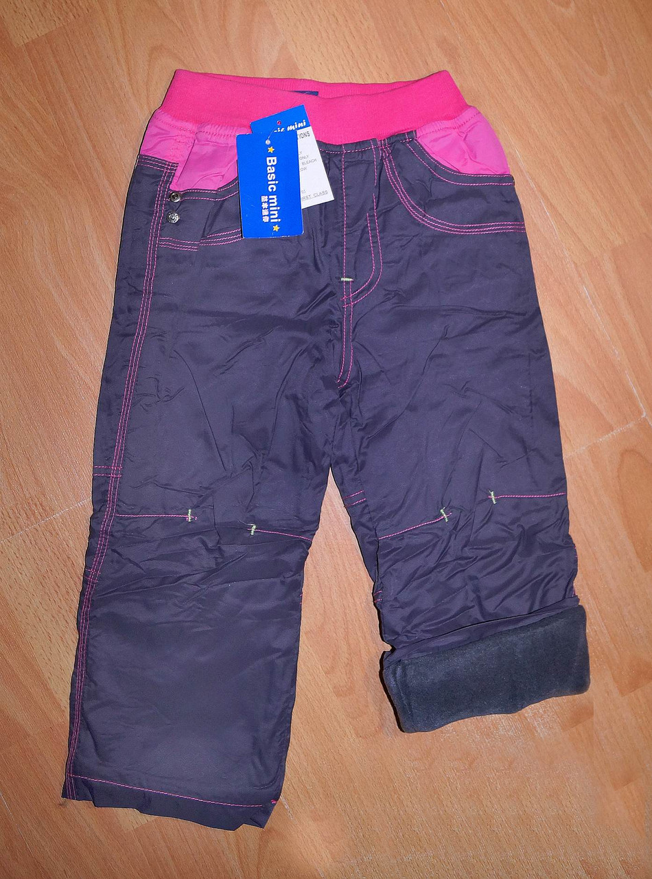 Распродажа!!! Детские теплые штаны на девочку Mintini (Турция)