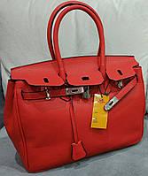 Женская сумка из эко кожи красного цвета. Herm... Материал эко кожа. Размер 36х25