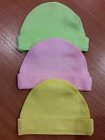 Детская шапочка чепчик без завязок для новорожденных