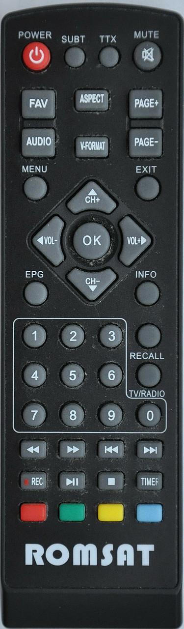Пульт от тюнера эфирного цифрового телевидения Т2 Romsat. T2070/ T2050/ T2900HD
