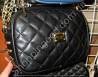 Клатч Mee Carol 8051 с шипами женский черный с золотом на цепочке