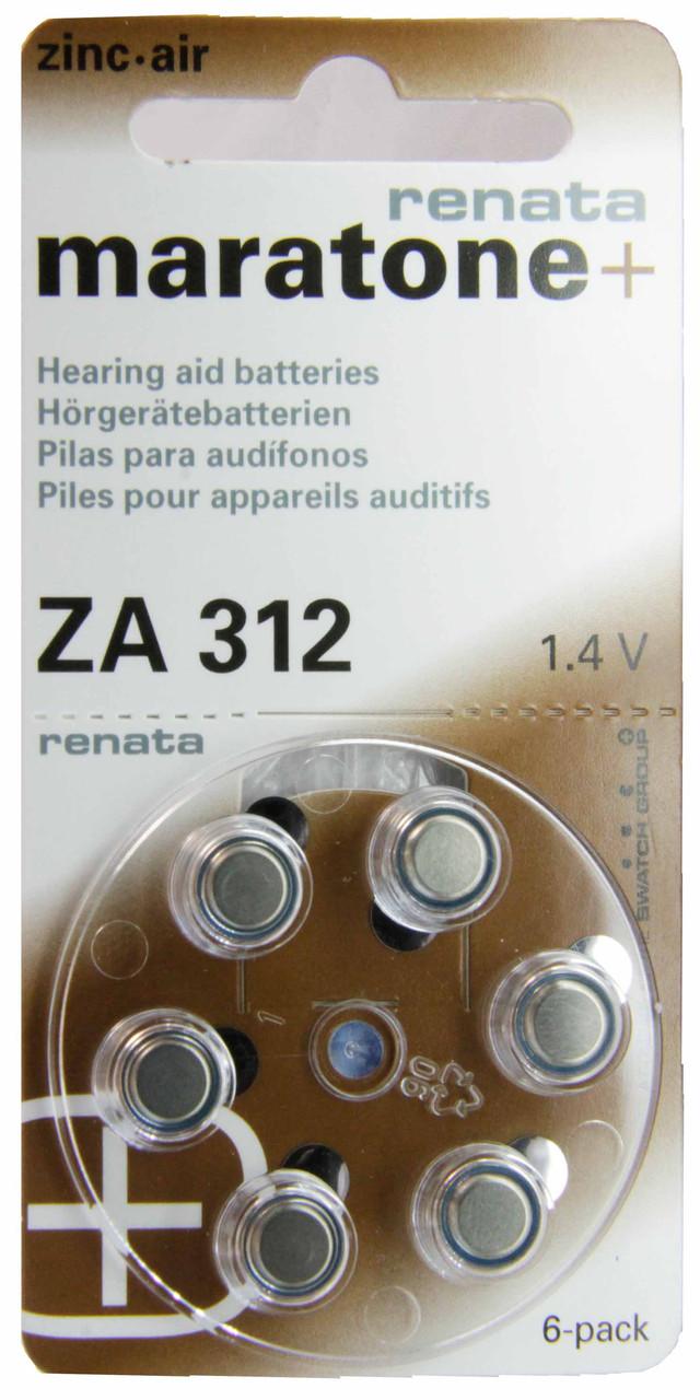 Батарейка Renata maratone+ ZA312 повітряно-цинкова
