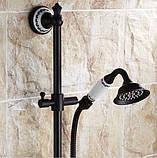 Змішувач чорний з лійкою для ванної кімнати 0159, фото 3