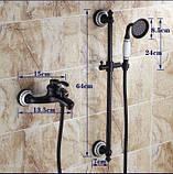 Змішувач чорний з лійкою для ванної кімнати 0159, фото 4