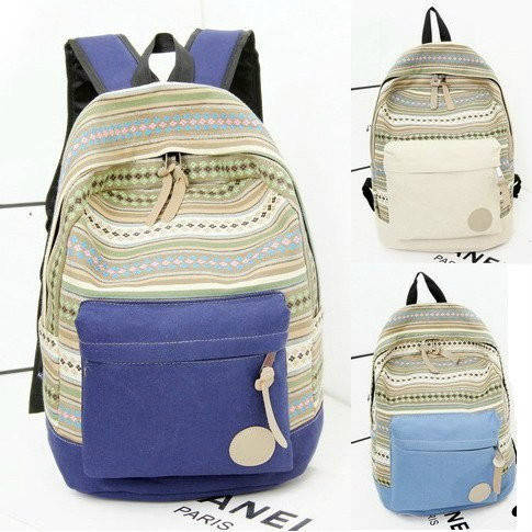 Молодежный школьный рюкзак с орнаментом