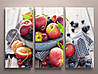 Модульная картина на холсте для кухни фрукты