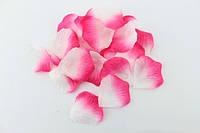 Искусственные лепестки роз розово - белые двухцветные, 500-600 шт./уп.