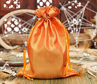 Мешочек из сатина оранжевый (14,5х19,5 см)