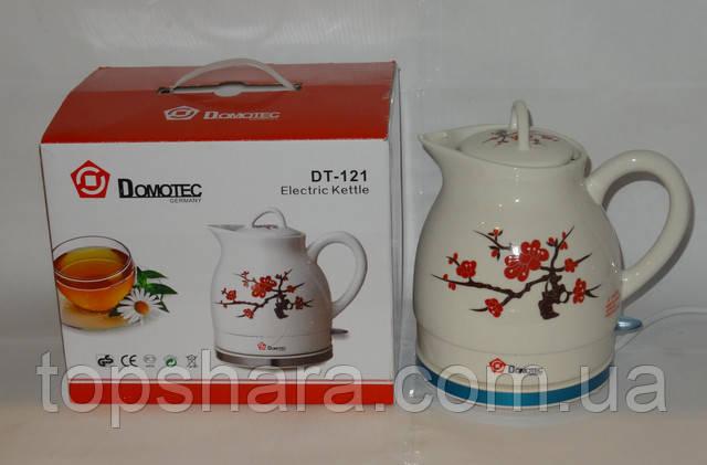 Электрочайник керамический Domotec DT-121   1.2л