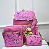 Школьный рюкзак в звездах из холста 3 в 1 , фото 3