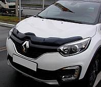 Дефлектор капота мухобойка Renault Captur с 2013 г. (SIM)