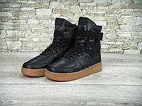Зимние мужские кроссовки Nike Special Field SF Air Force Black