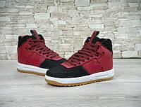 Зимние мужские кроссовки NIKE LUNAR FORCE 1 DUCKBOOT Black/Red