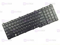 Оригинальная клавиатура для ноутбука Toshiba Satellite C650, C650D, C655, C655D series, ru, black
