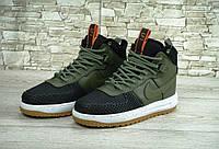 Зимние мужские кроссовки NIKE LUNAR FORCE 1 DUCKBOOT Black/Green