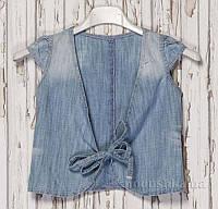 Жилет для девочки Gloria Jeans 47098 голубой 98-104