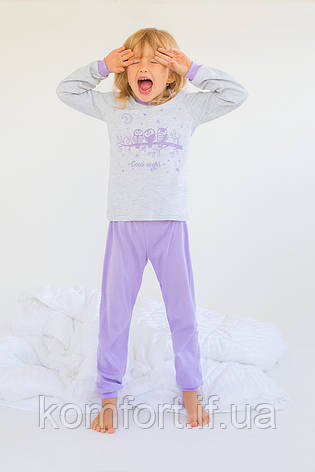 """Пижама для девочки """"Совушки"""" (сирень), фото 2"""