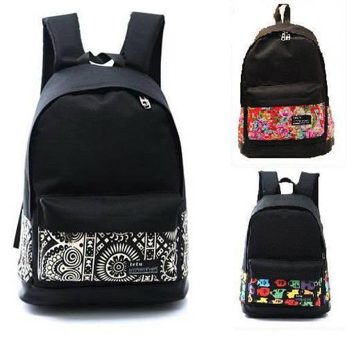 Стильный молодежный рюкзак с принтом
