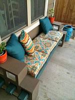 Матрасы из текстиля для садовой и домашней мебели, в стиле лофт