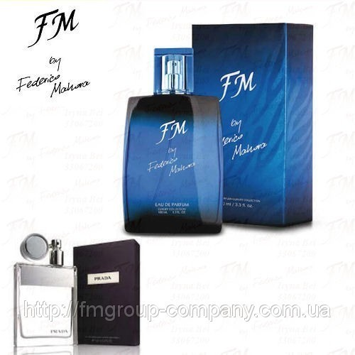 Мужская парфюмированная вода FM 155 аромат Prada Pour Homme (Прада Пур Омм) Federico Mahora