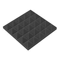 Акустический поролон «Пирамида 50» 25*25 см. звукопоглощающий. Чёрный графит