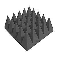 """Звукопоглощающая панель """"Пирамида 100"""" 25*25 см из акустического поролона. Черный графит"""