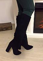 Женские зимние сапоги  евро-зима в стиле IVartik,натуральный замш (Lux качество),