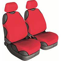 Майки сидения передние Beltex Cotton 11610 красные х/б без подголовника