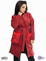 """Пальто-трансформер женское из кашемира больших размеров """"Монро"""""""