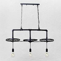 Підвісний світильник стельовий [ Loft Wheel Tube Lamp -3 ], фото 1