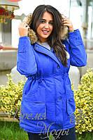 Зимняя куртка-парка, синяя. 6 цветов. р-ры: S,M,L,ХL,ХХL. 8064