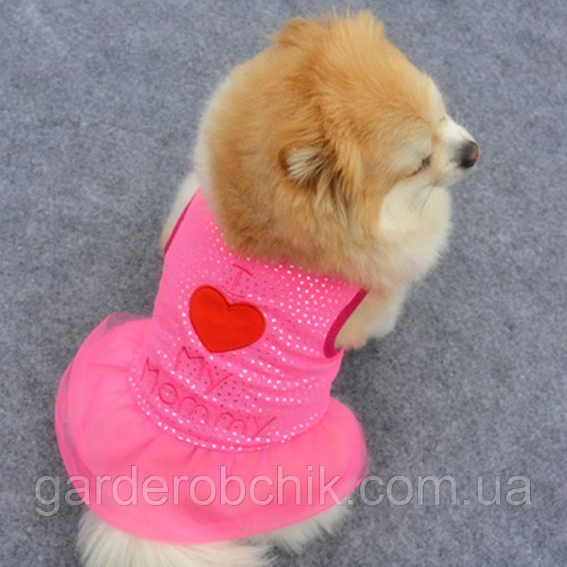 """Платье для собаки """"My Mommy"""". Одежда для собак"""